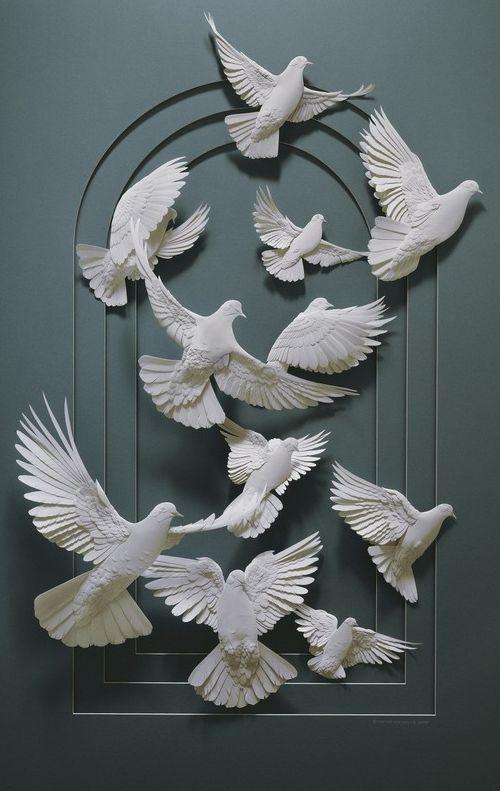 Calvin Nicholls Paper Art Sculptures