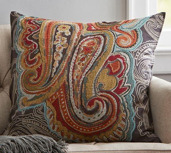 paisley pillow from Pottery Barn