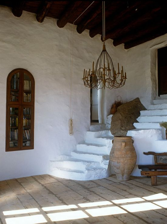 Typical Cycladic stone house in Mykonos by Deborah French Designs