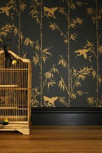 Winter in Olive - Bowie Wong wallpaper for Porter's Paints
