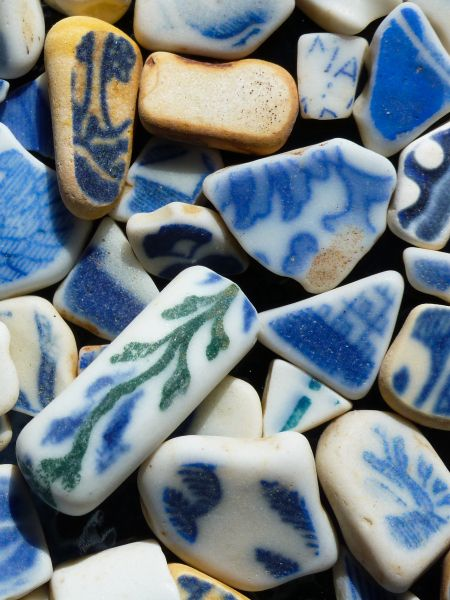 beach sea potterie pieces saved from annmariesislanddotcom
