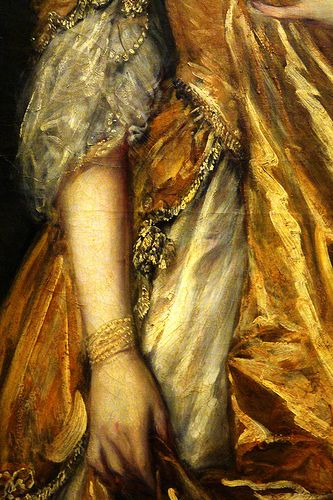 Detail from Mrs. Grace Dalrymple Elliot (1754-1823) Thomas Gainsborough 1778