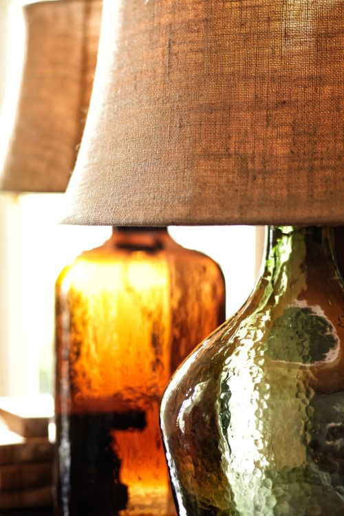 Jewel toned glass warms and reflects for more magical lighting via potterybarn