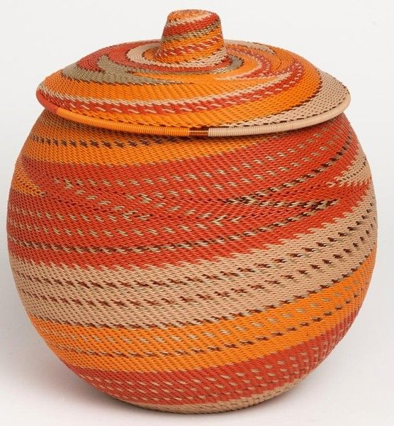 'Khamba' Telephone wire basket from South Africa