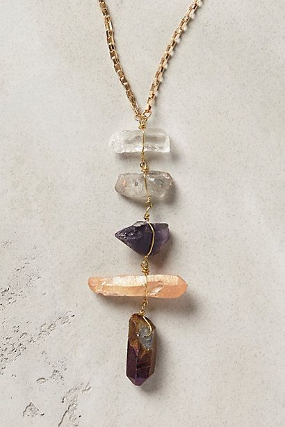 quartz necklace anthropologie