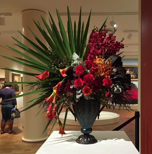 Red at Art in Bloom_Jessica Sackett