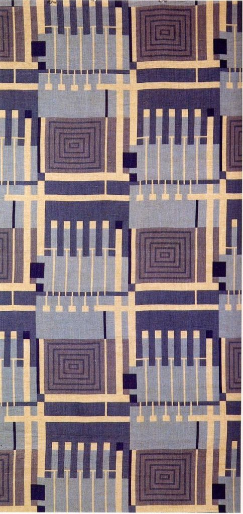 'Design 102' textile design by Frank Lloyd Wright, produced by F Schumacher & Co in 1957