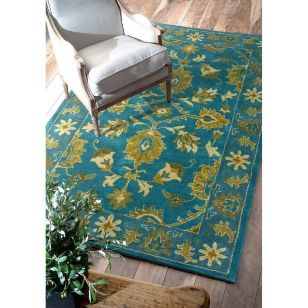 nuLOOM-Overdye-Turquoise-Overdyed-Area-Rug via Wayfair