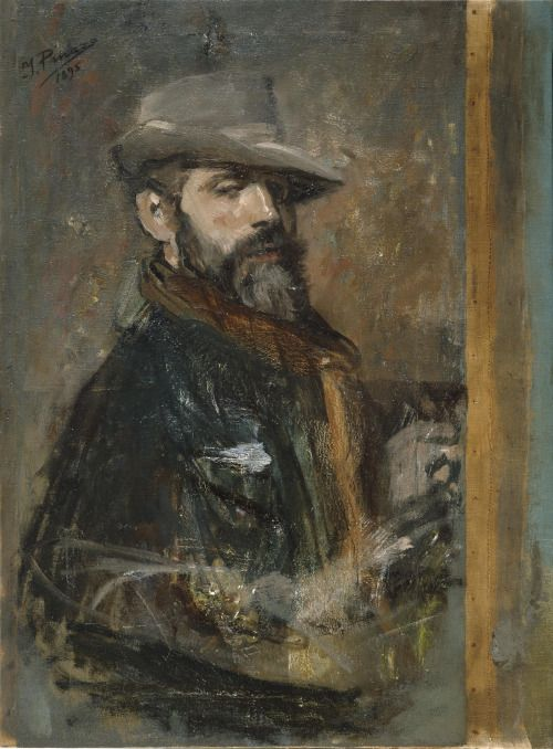 Self-Portrait Painting (1895), Ignacio Pinazo Camarlench