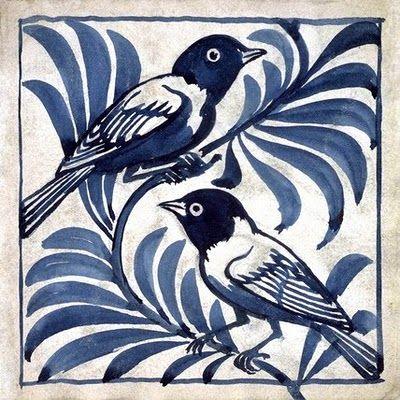 Tile design by William De Morgan