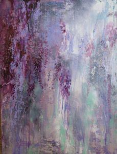 Annie Flynn. Impromptu Wisteria in Deep Violet