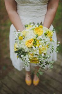 Gray and Yellow Wedding at The Barn at Fallingwater photographed by With Love & Embers.
