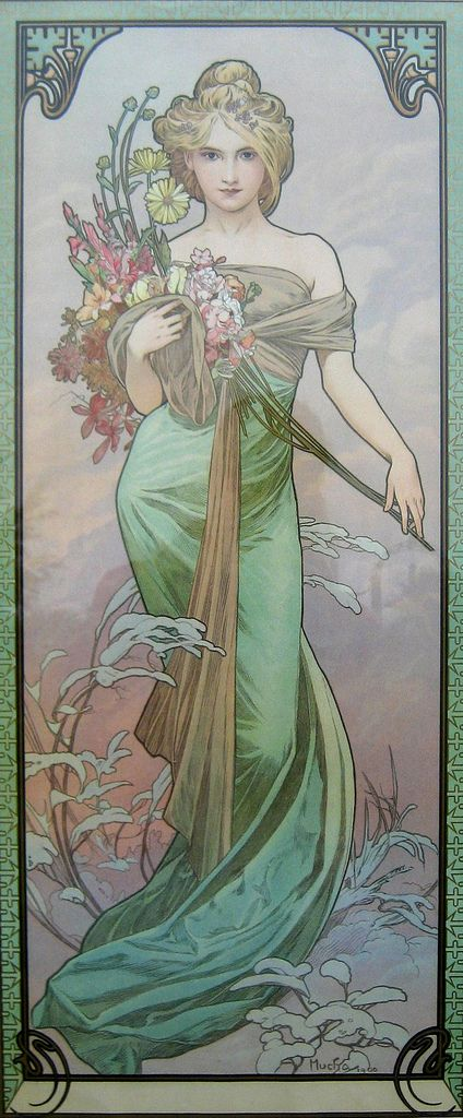 Le Printemps (1900) by Mucha