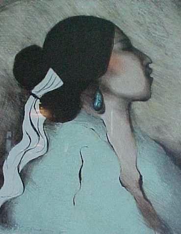 rc gorman lithographs for 1976 navajo woman