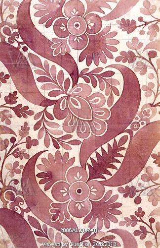 Textile design, by James Leman. Spitalfields, London, England, early 18th century via vandaimagesdotcom