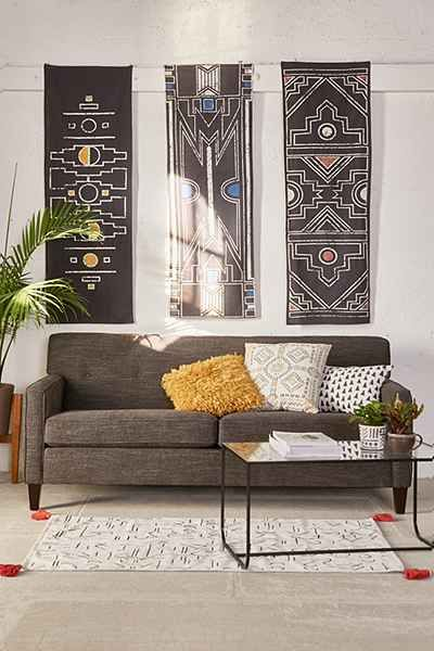 4040 Locust Mutsa Triptych Tapestry via Urban Outfitters