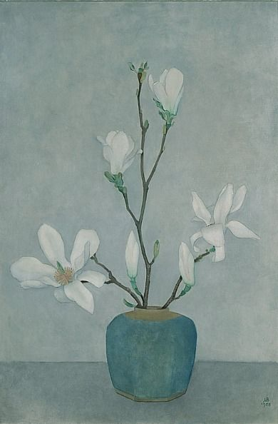 Jan Boon, Magnolias in a Blue Pot, 1958