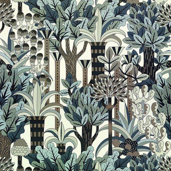 JARDIN D'OSIER - Hermès - Wallpaper