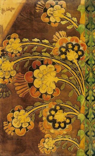 Józef Mehoffer, Flower, 1901