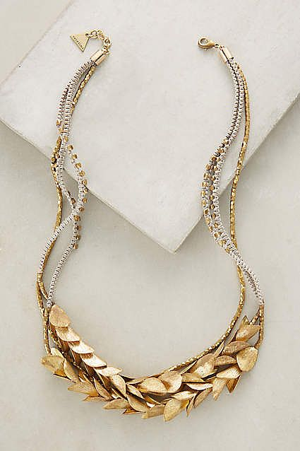 Neclace sold by Anthropologie via Serene Bohemian