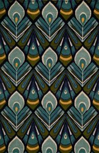 Peacock Rug from the Bauhaus Minimal Design Rugs, collection at Modern Area Rugs
