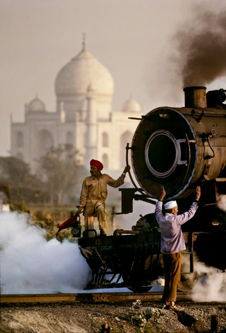 Steam Train, Agra, Uttar Pradesh, India, 1983