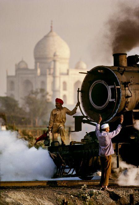 Steam Train, Agra, Uttar Pradesh, India, 1983