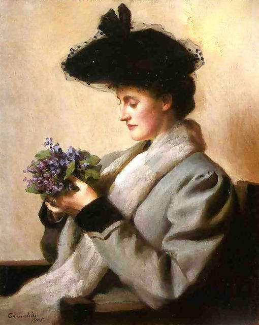 The Nosegay of Violets - William Worcester Churchill (1858 – 1926)