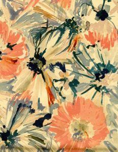 Vintage floral textile design by Luli Sanchez