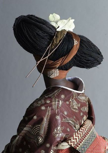 Japanese kimono by Cameroonian designer Serge Mouangue