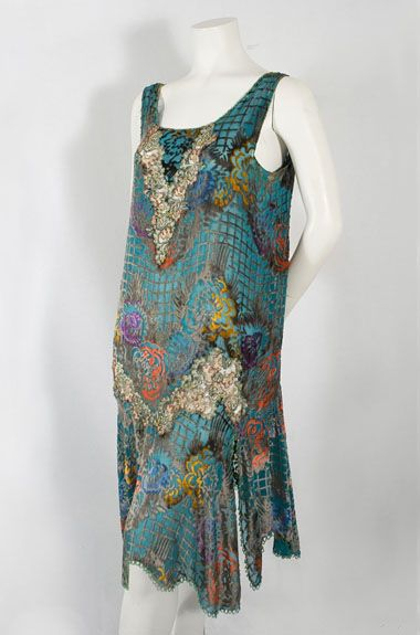 Devoré velvet flapper dress, c.1926, from the Vintage Textile archives
