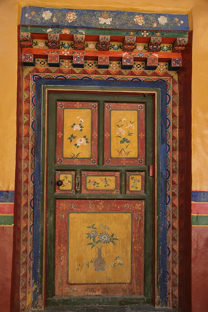 Painted Door in Tibet