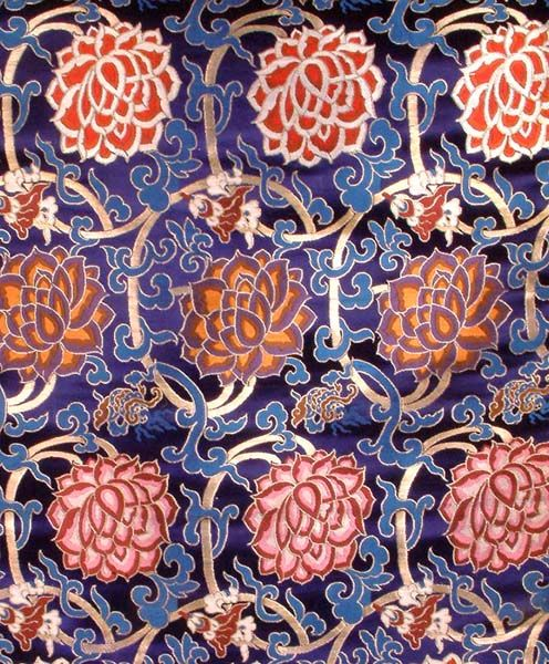Via gardenofthefareast, The Flowers of Tibet, Pure Silk Handloom Brocade