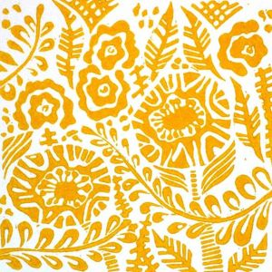 blithe-original-linocut-relief-print-in-mustard-yellow